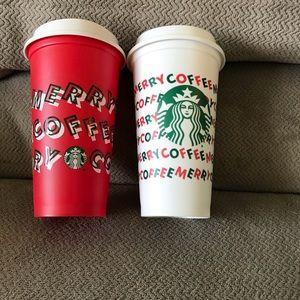 Starbucks Reusable Cup duo